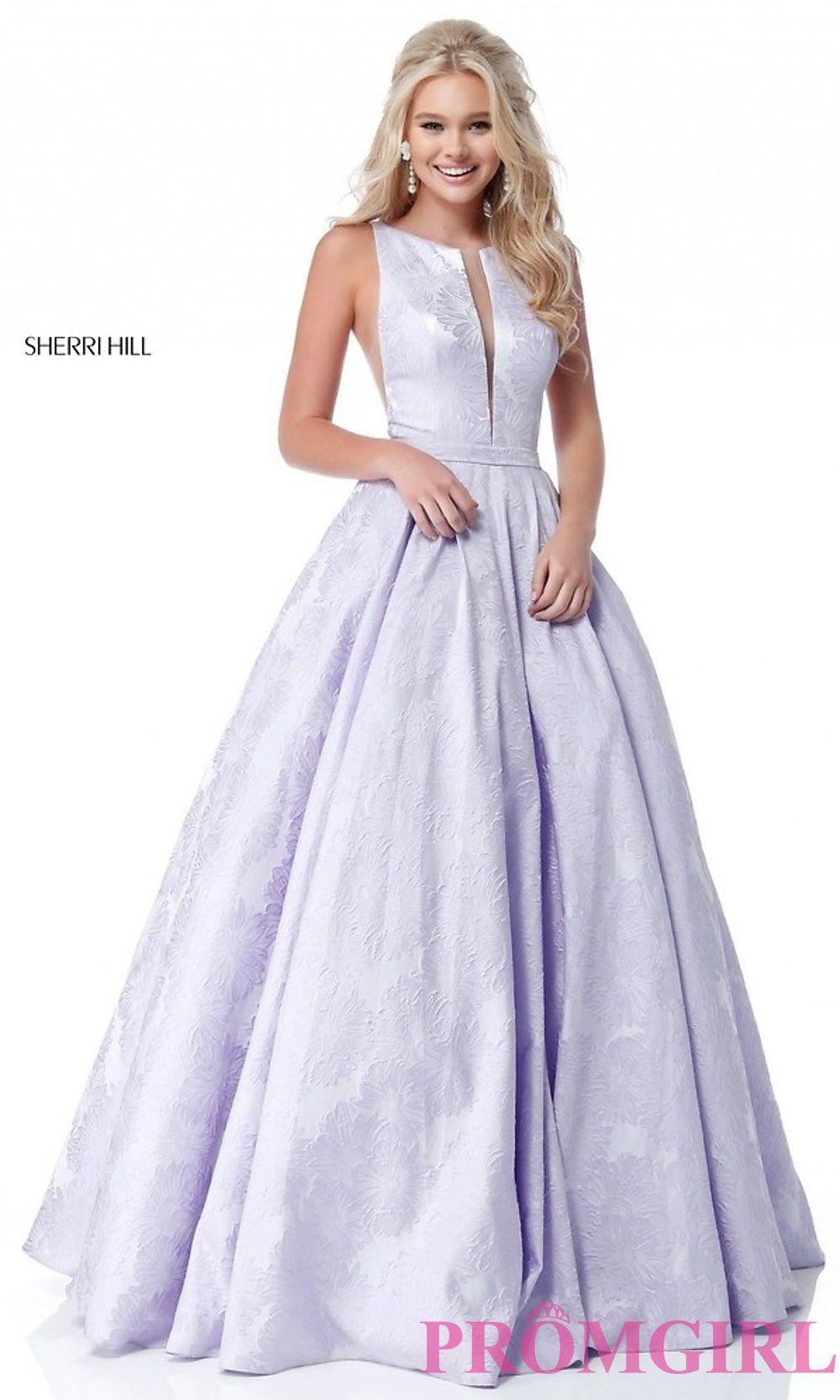 463dc1f2753 Image of long print illusion prom dress by Sherri Hill. Style  SH-51703