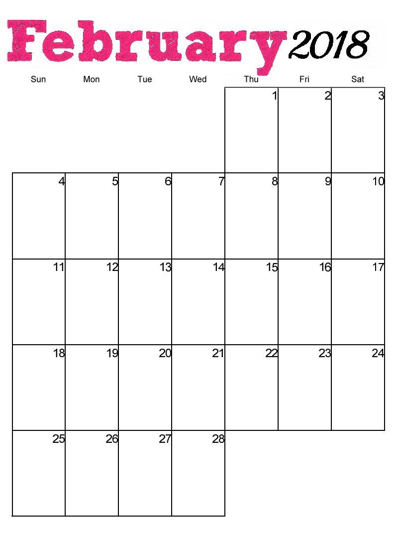 Free Printable February  Vertical Calendar  Maxcalendars