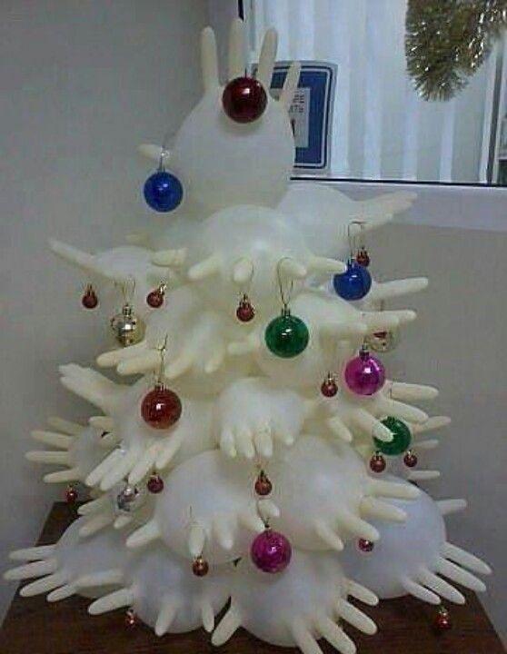 Medical Christmas Fun Medical Glove Christmas Trees Unusual Christmas Trees Funny Christmas Tree Nurse Christmas
