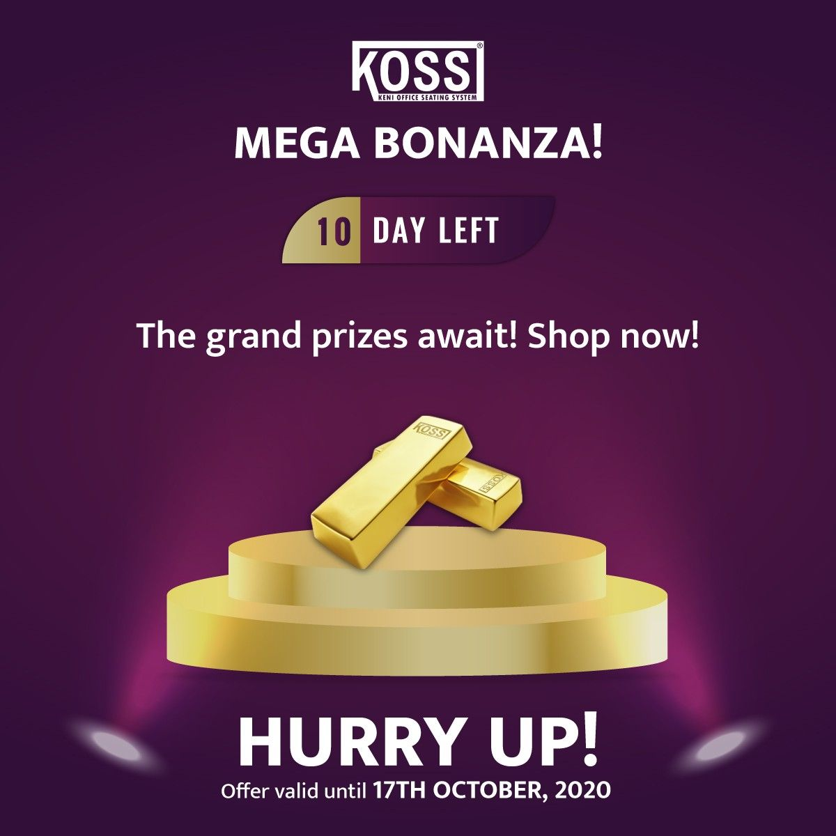 Don't miss the chance to win grand prizes! Participate in the mega bonanza! Hurry, only 10 days left for the offer to end! . . . #kossfurniture #furniturestore #furnituremaker #officefurnituresolutions #makeinindia #kossfurnitures #kosschairs #furnituresale #furnitureart #furnituredecor #officefurniture #moderndesign #furnituresale #leapchair #officechair #deskchair #furnitureforsale #furnituremaking #furnitureart #bigbonanza #bonanza #jackpot #jackpotwinner