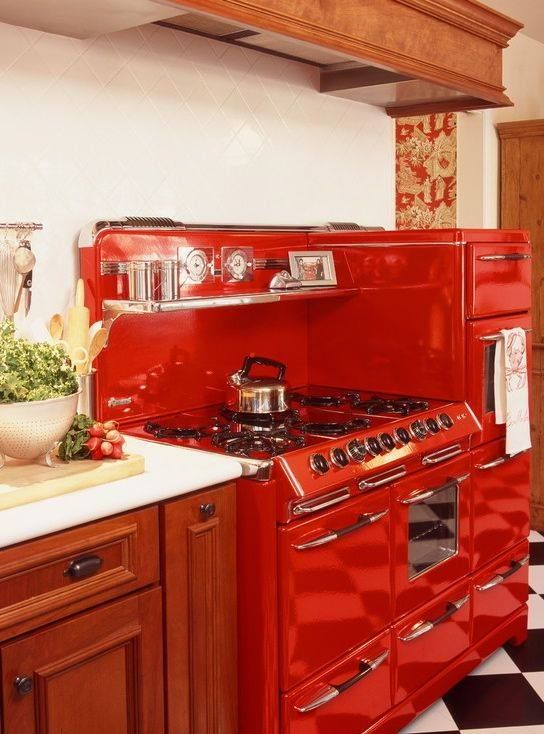Belle Cuisiniere Cuisine Pinterest Déco Maison Rouge Et Maisons - Cuisinieres electriques pour idees de deco de cuisine