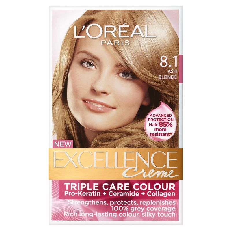 L Oreal Excellence Creme 8 1 Ash Blonde Best Diy Hair