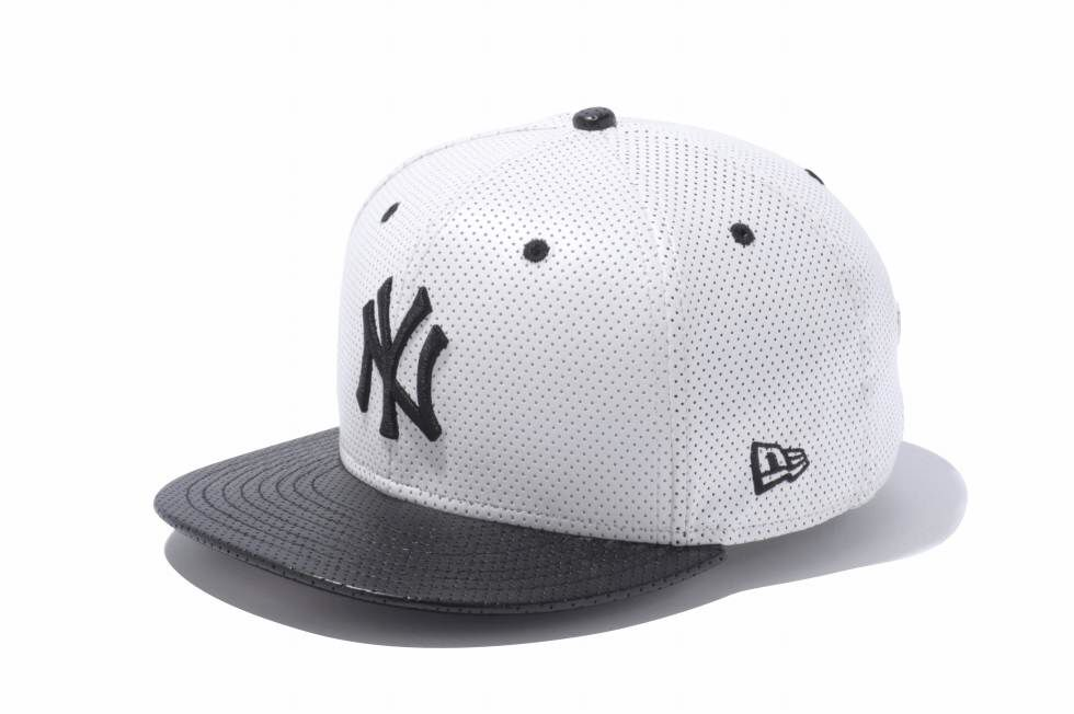 9FIFTY Punching Leather ニューヨーク・ヤンキース ホワイト × ブラック