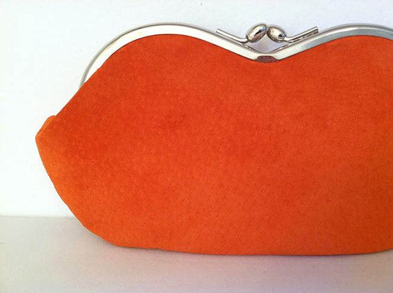 Luscious Orange Suede, a small clutch, a sunglass, eyeglass or smartphone case by MiZenDesigns, $45.00