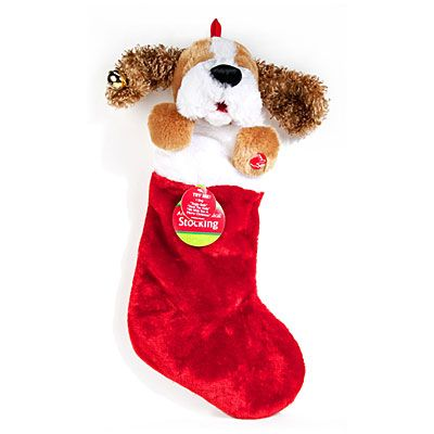 Animated Musical Plush Dog Stockings At Big Lots The Ears Move Too