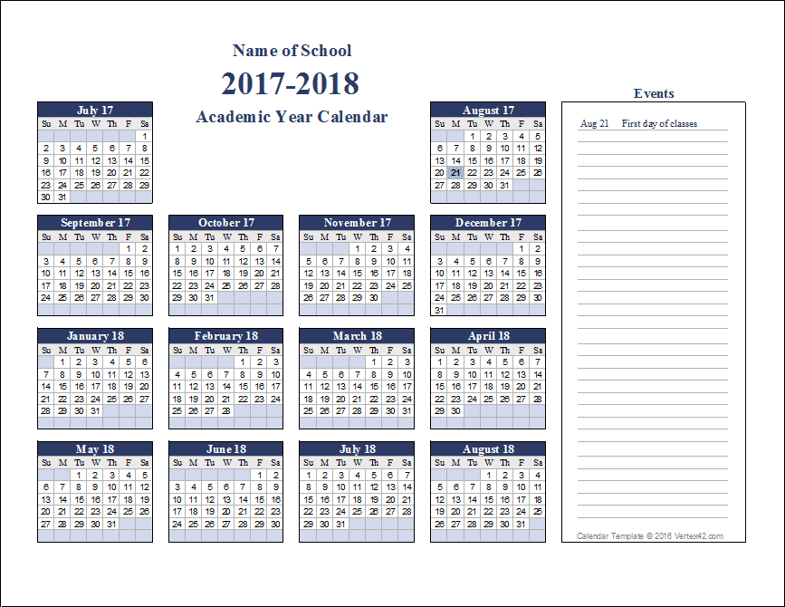 Download Free Academic Calendar Templates That You Can Edit Using