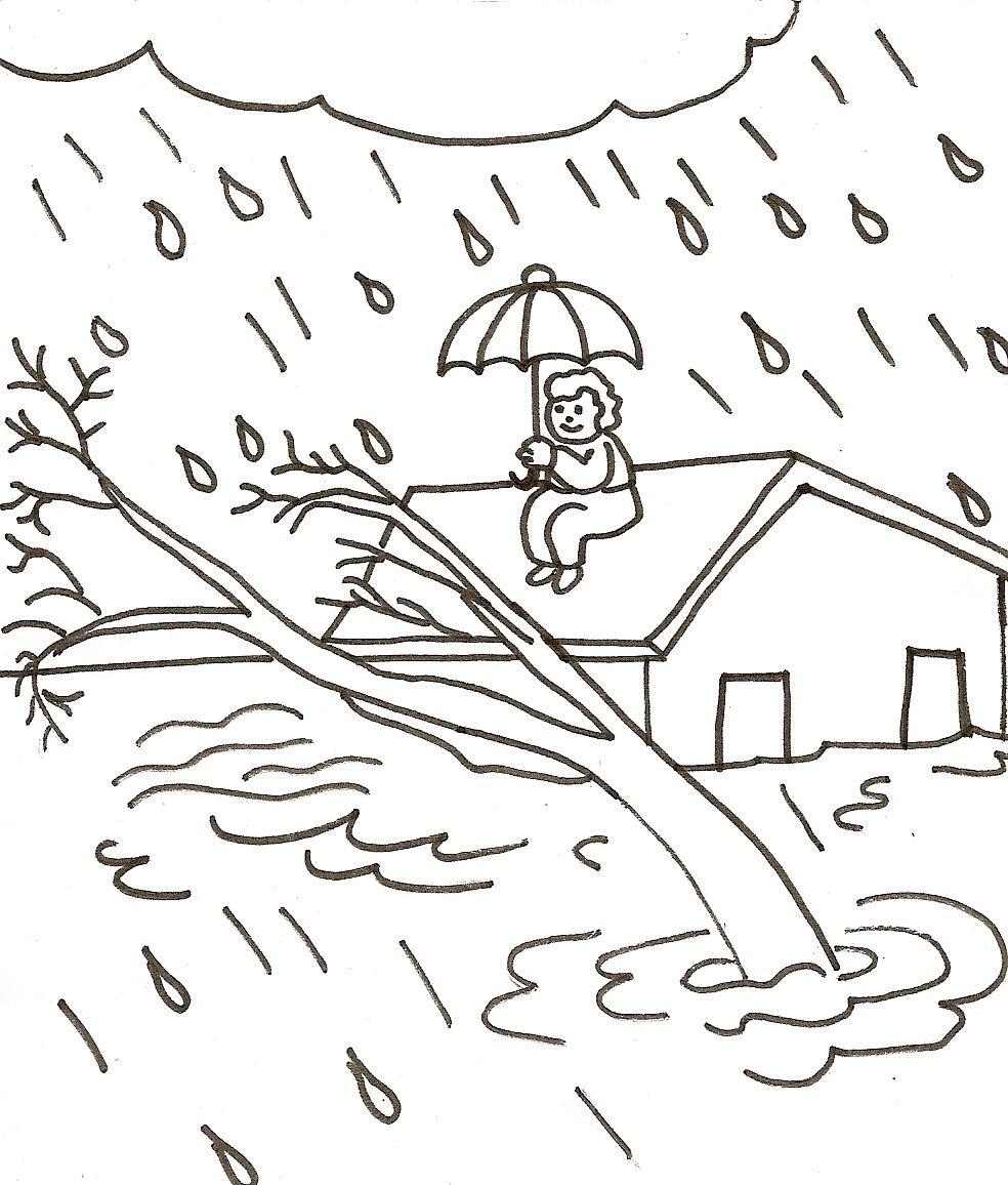 Dibujos De Desastres Naturales Para Ninos Para Colorear