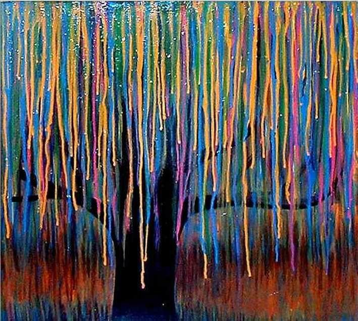 A faire avec des encres souffl es la paille automne for Art plastique peinture