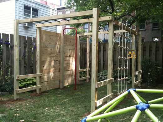jungle gym diy action pinterest kletterger st spielpl tze und g rten. Black Bedroom Furniture Sets. Home Design Ideas