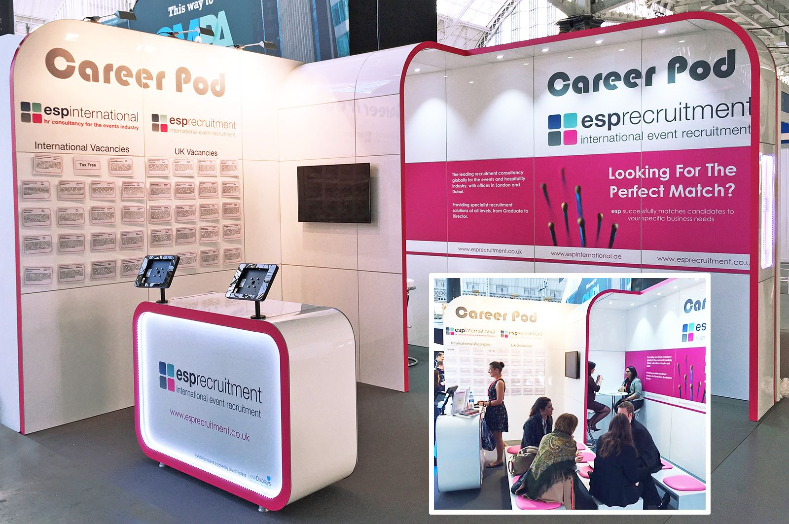 4m x 4m Exhibition Stand designed and installed by Love Expo, UK #exhibit #design #build #install #standbuild #customstand