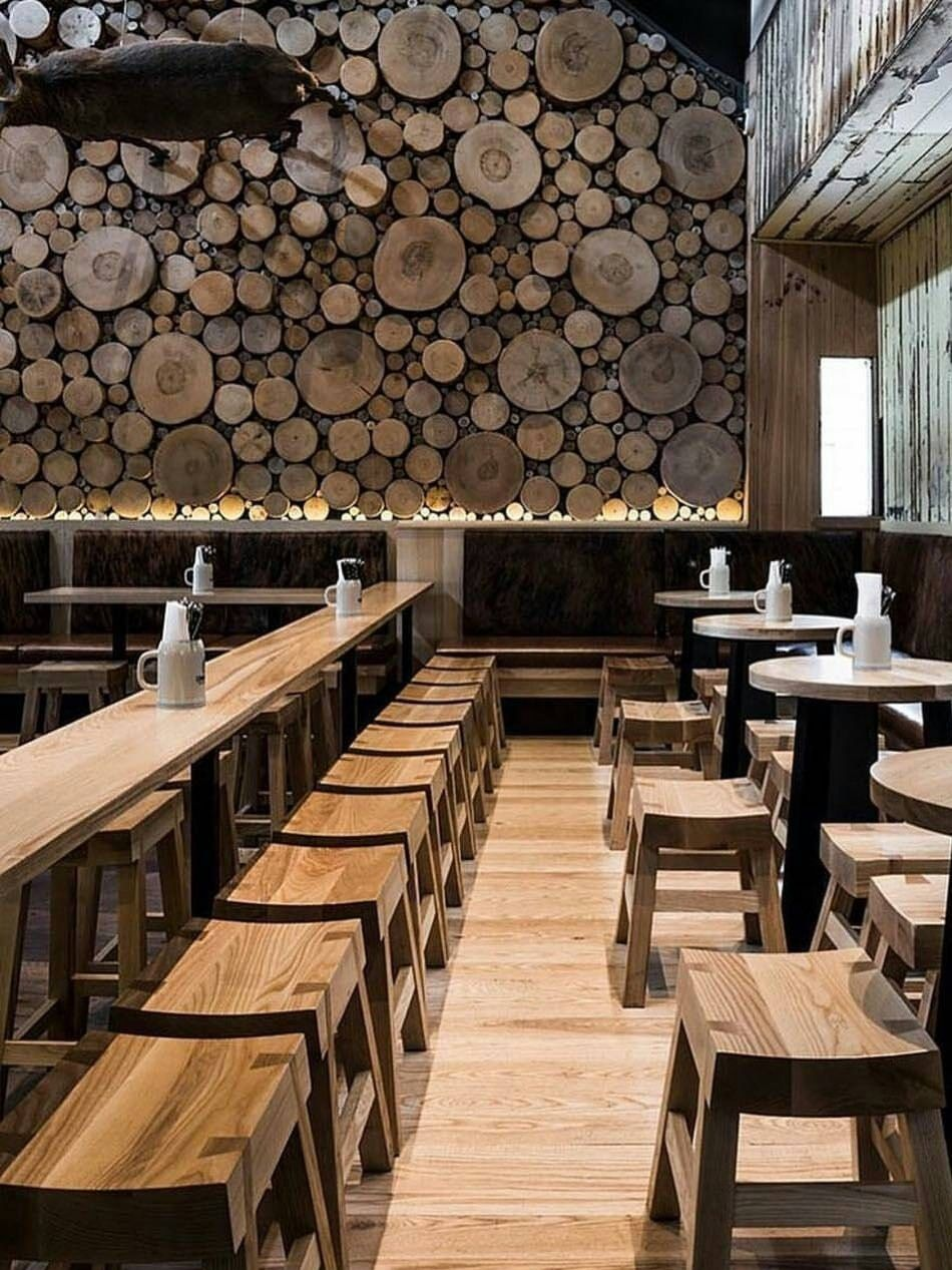 A Wooden Interior With Images Rustic Restaurant Cafe Design