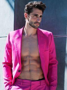 MEN IN PINK | Think pink | Pinterest | Models