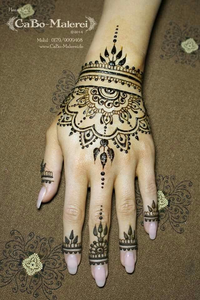 Simple Henna Tattoo On Hand: Pinteres…