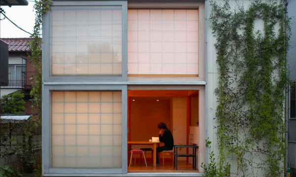 Makoto Koizumi House Design Large Sliding Glass Doors And Open