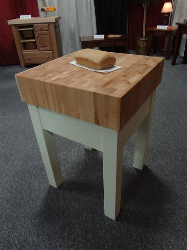 End Grain Butcher Block Kitchen Island : Amish 6