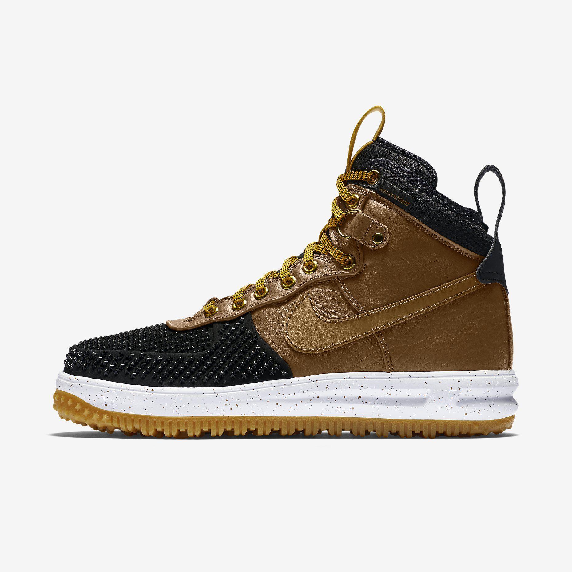 Nike Lunar Force 1 Duckboot Men's Boot: Black/Gold Dart/White/Light