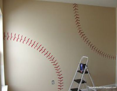Simply Mom DIY Easy Baseball Wall Tutorial