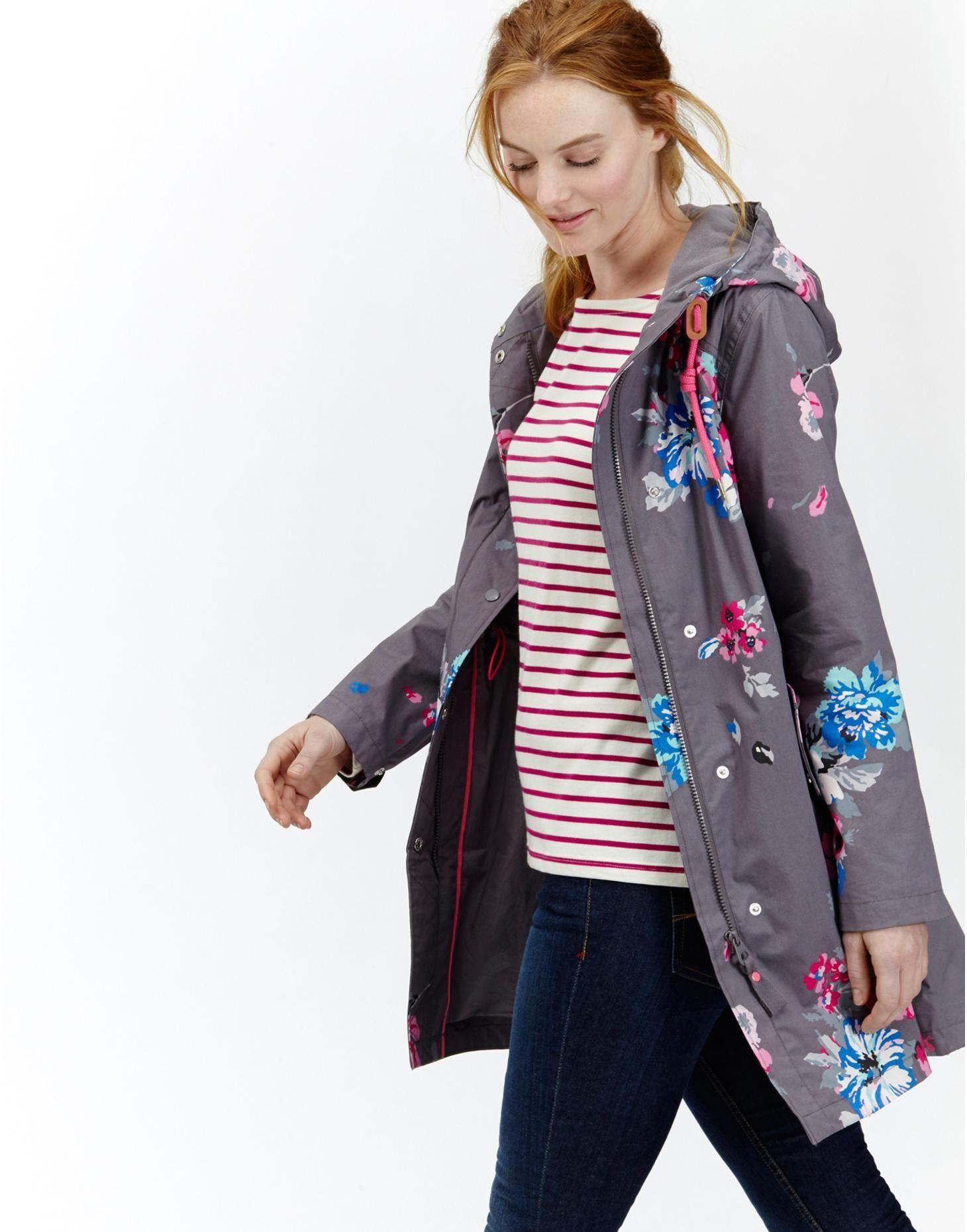 69088d19c4f Raina Slate Posy Waterproof Parka | Joules UK | Cute clothes ...