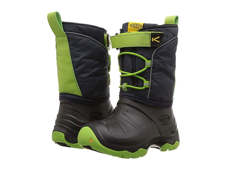 3bdfd2949a Keen Kids Lumi Boot WP (Toddler/Little Kid) Boys Shoes Blue Nights/Greenery