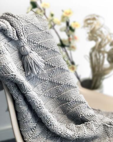 Ivy Geometric Blanket Knitting Kit Knitting Pinterest Blanket