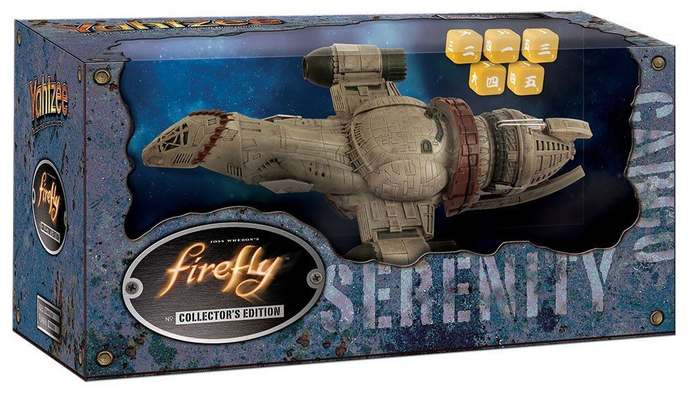 "Firefly Serenity Yahtzee ""OH GOD OH GOD WE'RE ALL GOING TO DIE?"" It's pretty much exactly what it looks like.  It's Yahtzee, but Serenity-flavored.  You can open it up and play it with the family or keep it as a collector's piece.    #joss #whedon #josswhedon #merch #firefly #serenity #whedonverse #yahtzee #games #play #family"