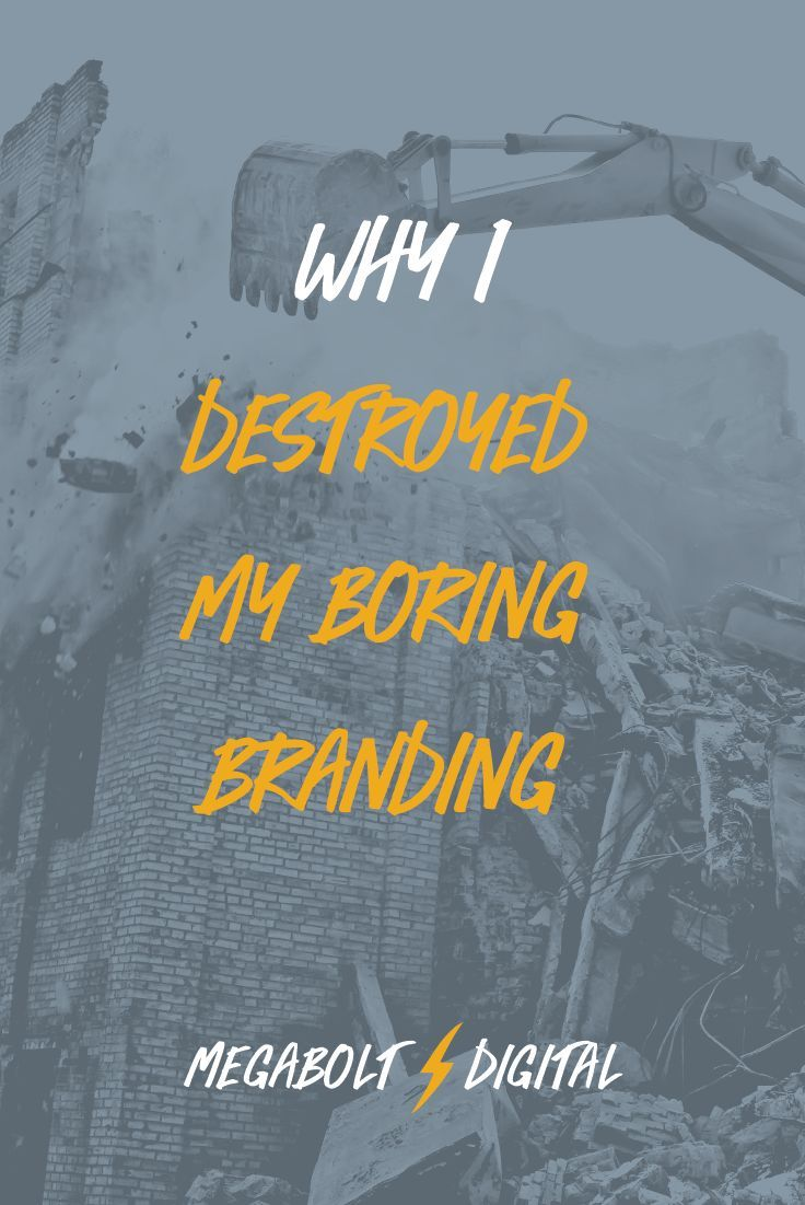 I've spent years preaching about being unique, but my own brand & website were pretty unexceptional. So I had to destroy them to make something better. graphic design / branding for business / how to brand / authentic business branding via @megcasebolt