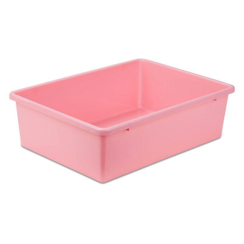 Honey Can Do Plastic Storage Bin Dark Pink - PRT-SRT1603-LGDKPNK