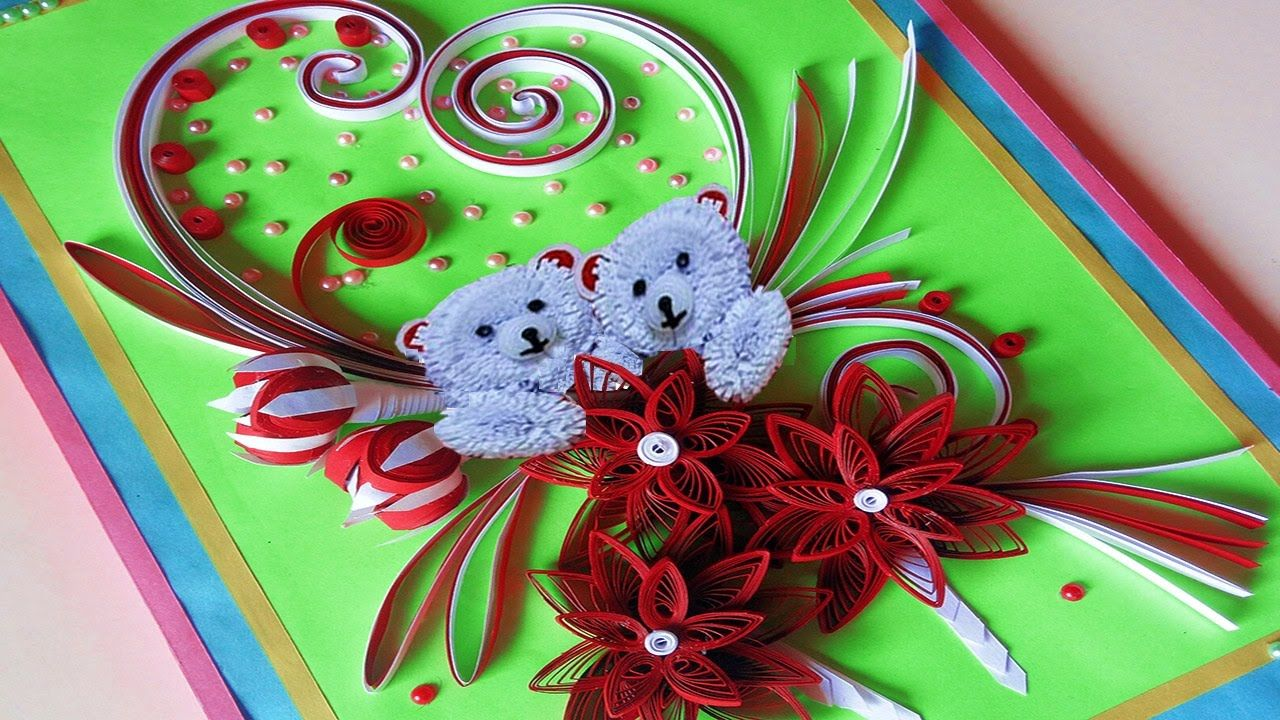 Paper Quilling How To Make Valentines Day Greeting Cards