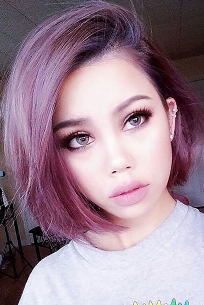 The Packed Collection Of The Most Vivid Purple Ombre Hair Ideas Hair Styles Short Hair Styles Purple Hair