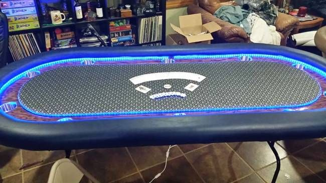 Outstanding Two Brother In Laws Made A Diy Led Poker Table Using Wood Home Remodeling Inspirations Genioncuboardxyz