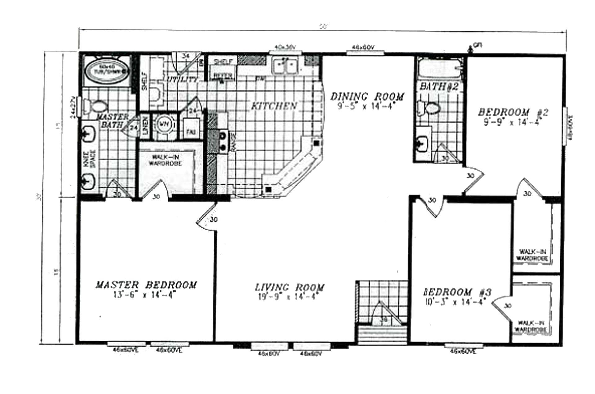 Charming 30x60 House Floor Plans #10: Manufactured Home Floor Plan - 2008 KARSTEN Cl-250a 94CLS30503AH08 .