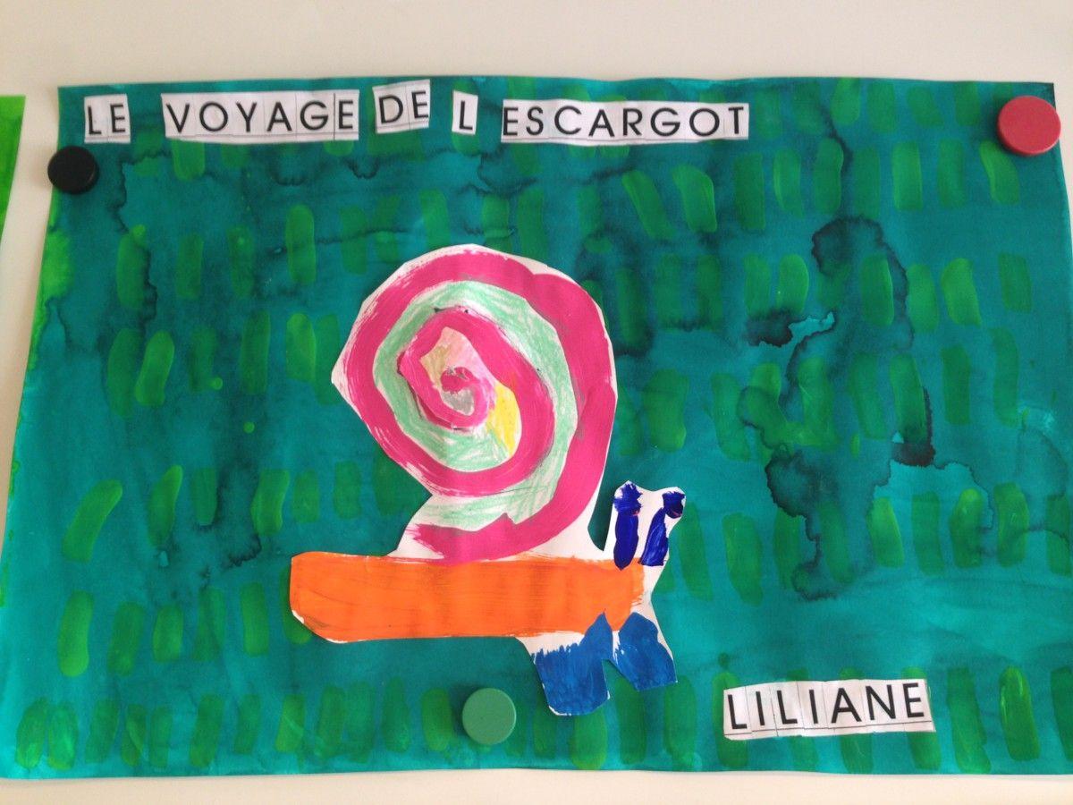 Art visuel maternelle le voyage de l 39 escargot la maternelle de wendy pinterest arts - Escargot maternelle ...