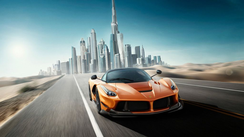Ferrari Sports Car Motion Blur Dubai Wallpaper Car Wallpapers Super Cars Ferrari Laferrari