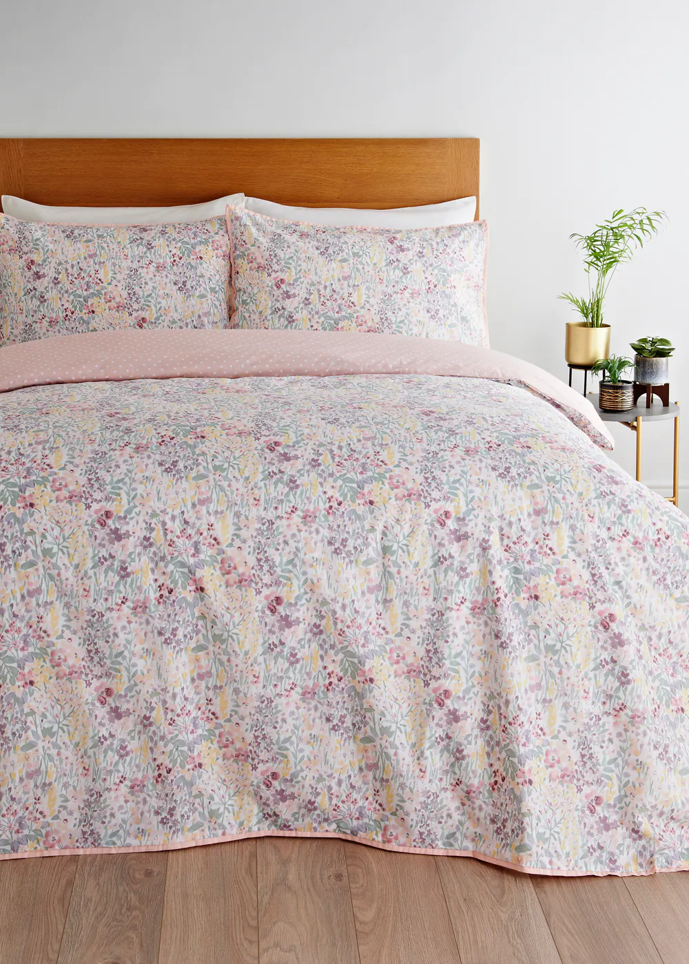 Reversible Meadow Floral Duvet Cover Pink In 2020 Duvet Covers Duvet Home Decor