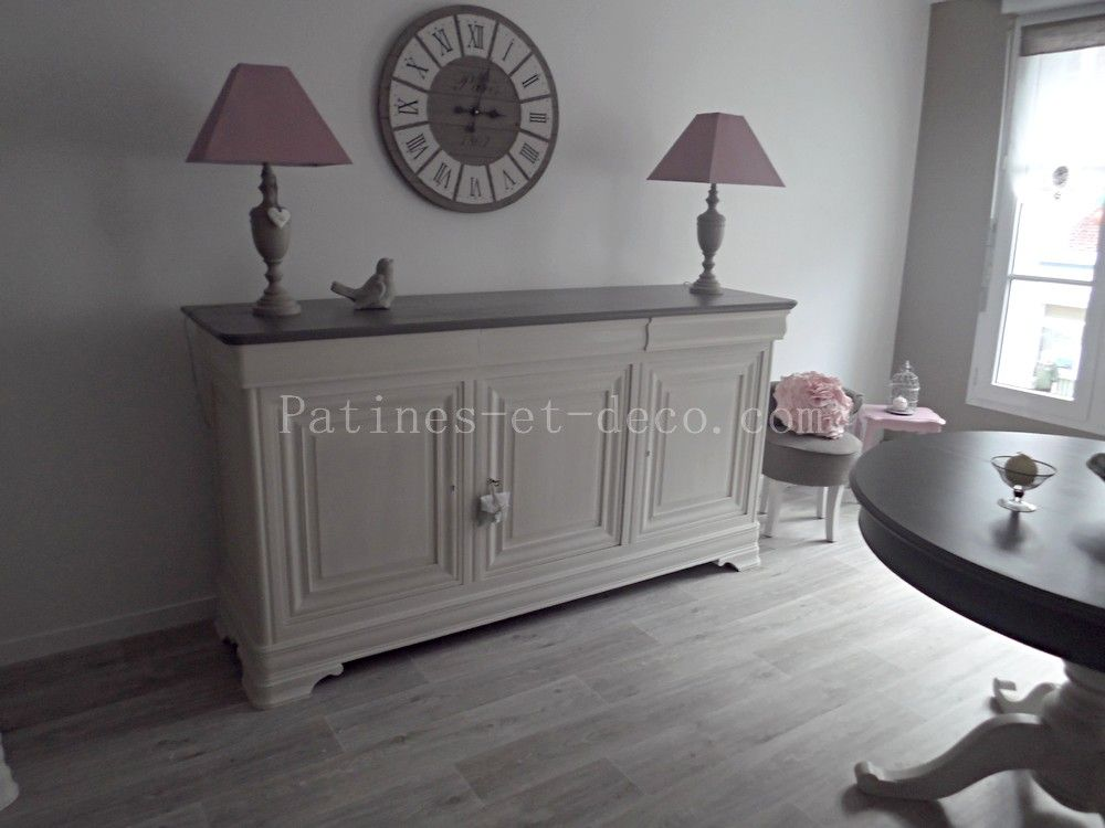enfilade louis philippe patine blanche grise 1000 750 relooking meubles. Black Bedroom Furniture Sets. Home Design Ideas
