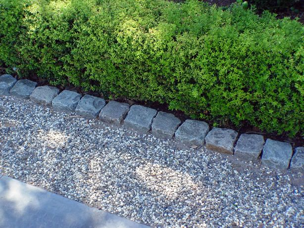 Cobblestone Used As Driveway Banding Curb Authentic