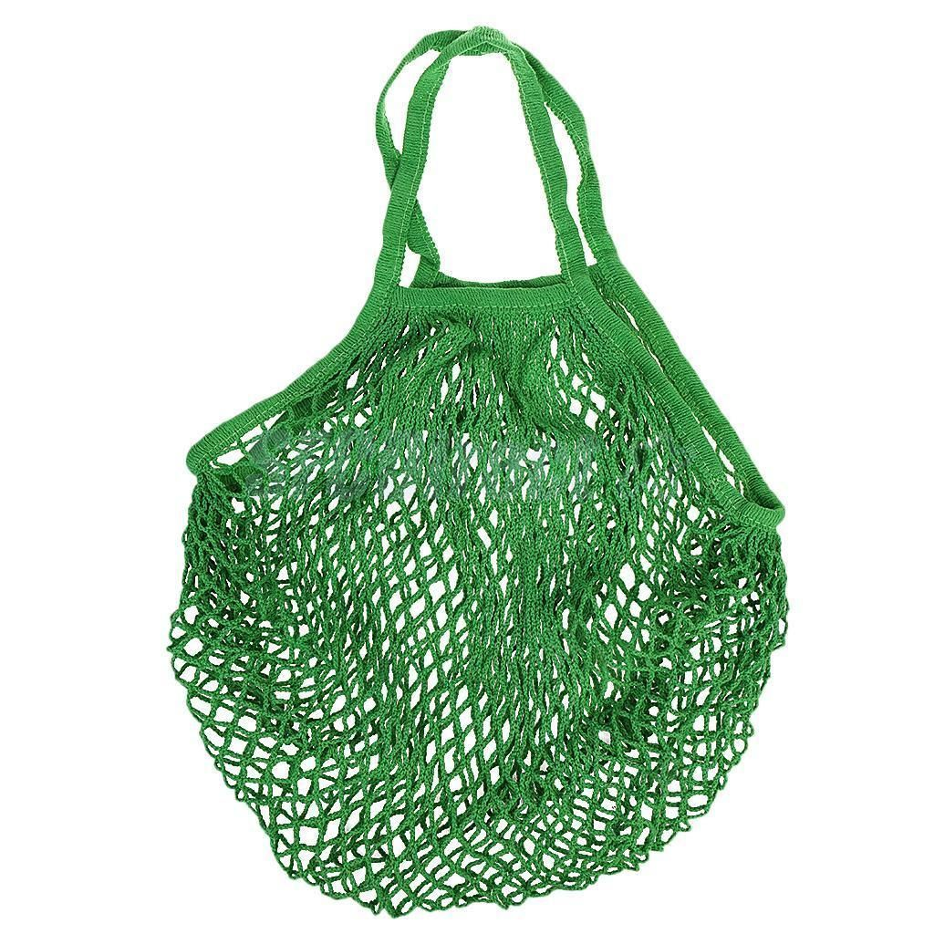 medium resolution of turtle bags reusable eco shopping cotton mesh handbag long handle tote green