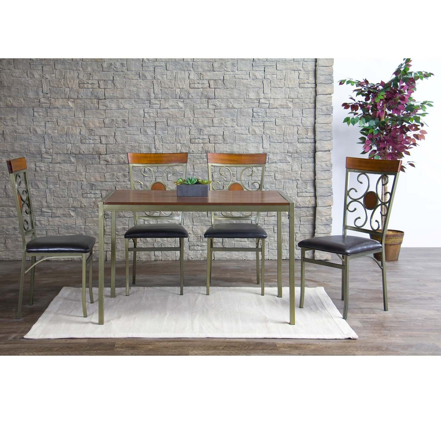 Adding A Dining Room Addition Baxton Studio Modica Wood Metal Contemporary Dining Table