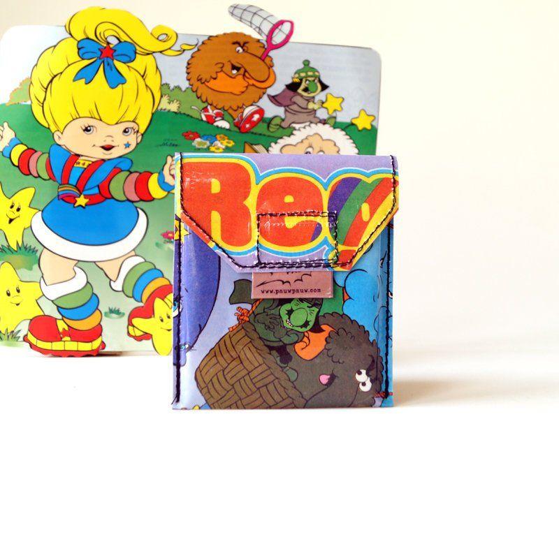 Regina Regenbogen Kartentäschchen Upcycling Unikat Karten