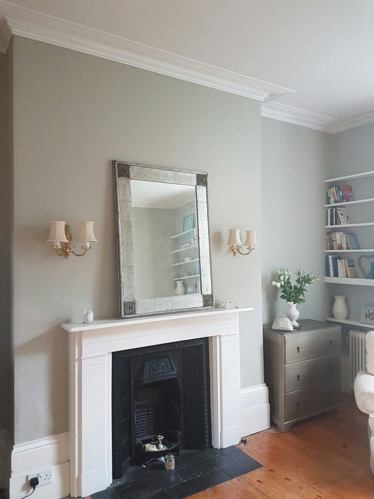 We Painted The Living Room In Farrow Ball Drop Cloth A Lovely Grey Green