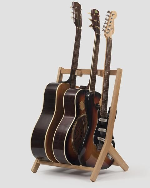 wooden multi guitar stand oak guitar stands wooden guitar stand guitar stand wood guitar. Black Bedroom Furniture Sets. Home Design Ideas