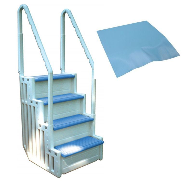 innovation swimming pool steps. Exterior  Graceful Ocean Blue Above Ground Pool Steps from For Swimming