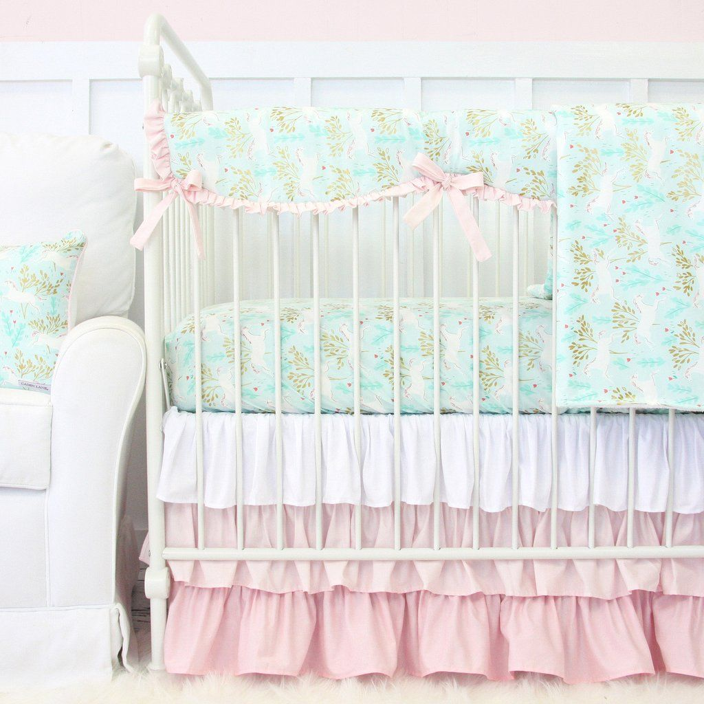 charming unicorn crib bedding | unicorns, crib sheets and crib