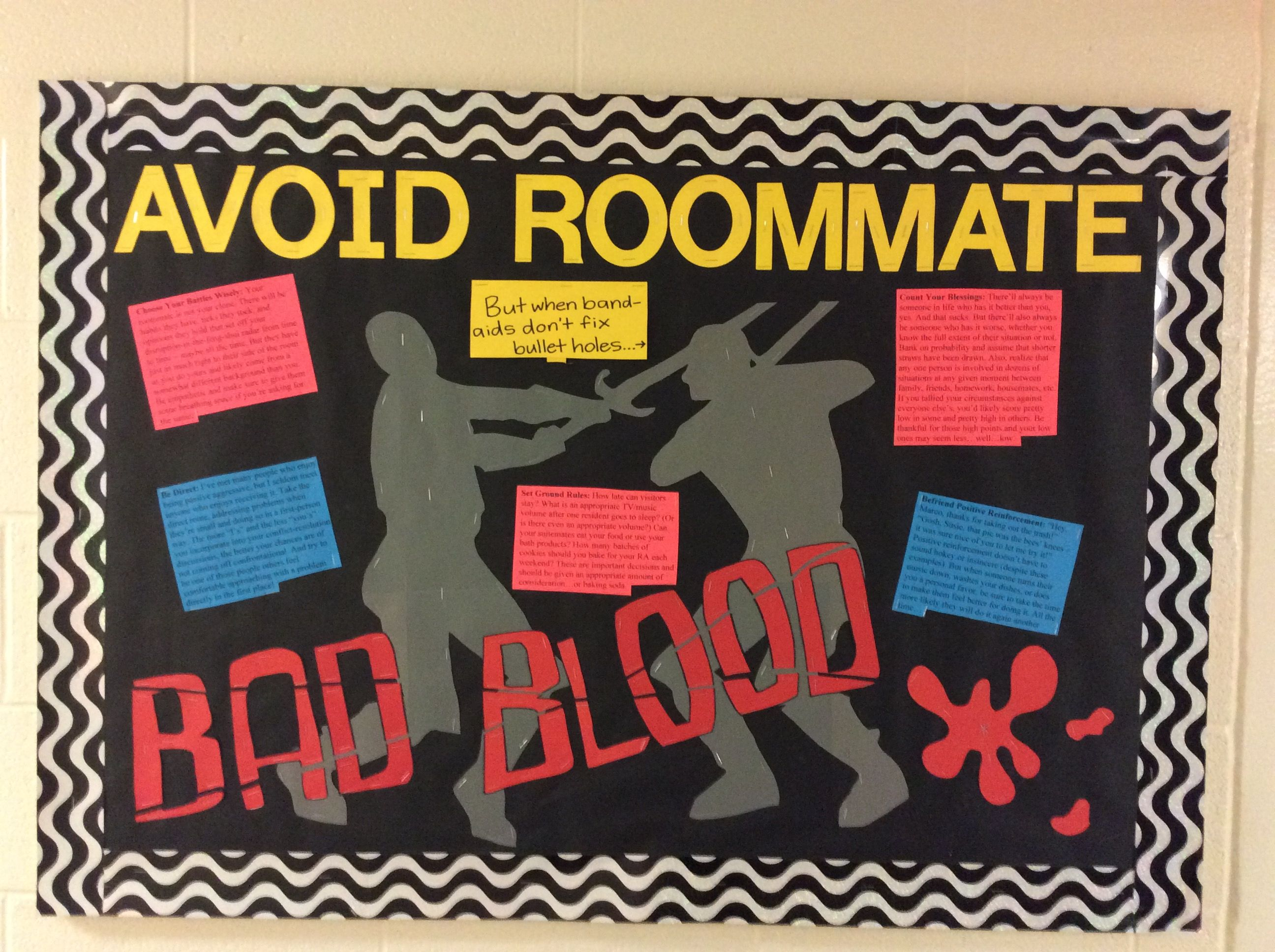 Resident Assistant College Bulletin Board Bad Blood Taylor Swift