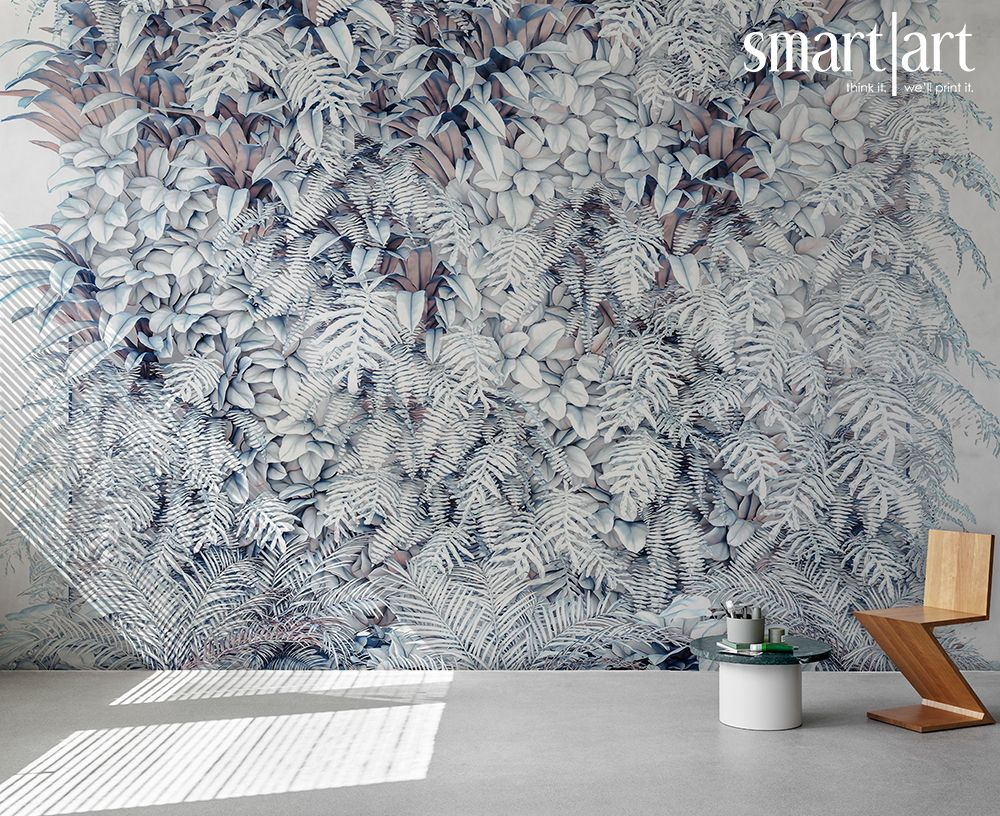 Smart Art Wallpaper Green Garden Wall Leaves Plants Interior Ideas Custom Large Format Printing Ivy Aloe Greenery 10 In 2020 Print Wallpaper Wallpaper Art Wallpaper