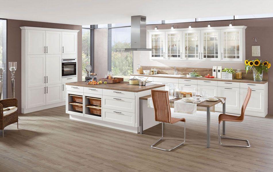 Küche nobilia Chalet Lack Weiß | Küche | Pinterest | Kitchen ideas ... | {Moderne landhausküchen u form 20}
