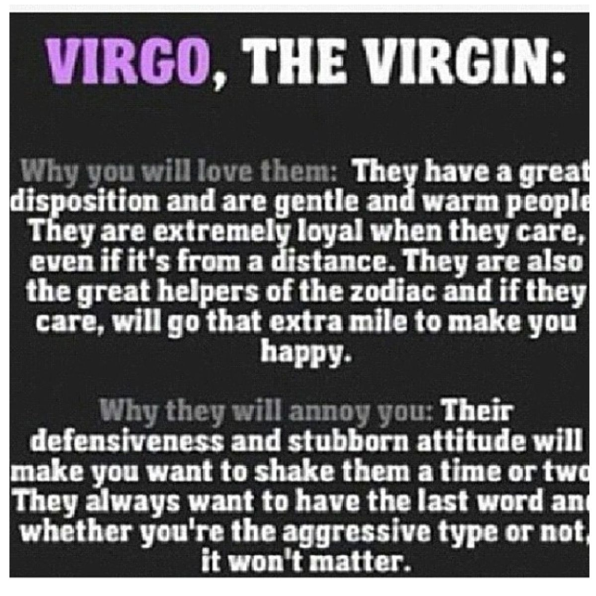 Virgos are always loyal but I WILL get the last word!! | LOL