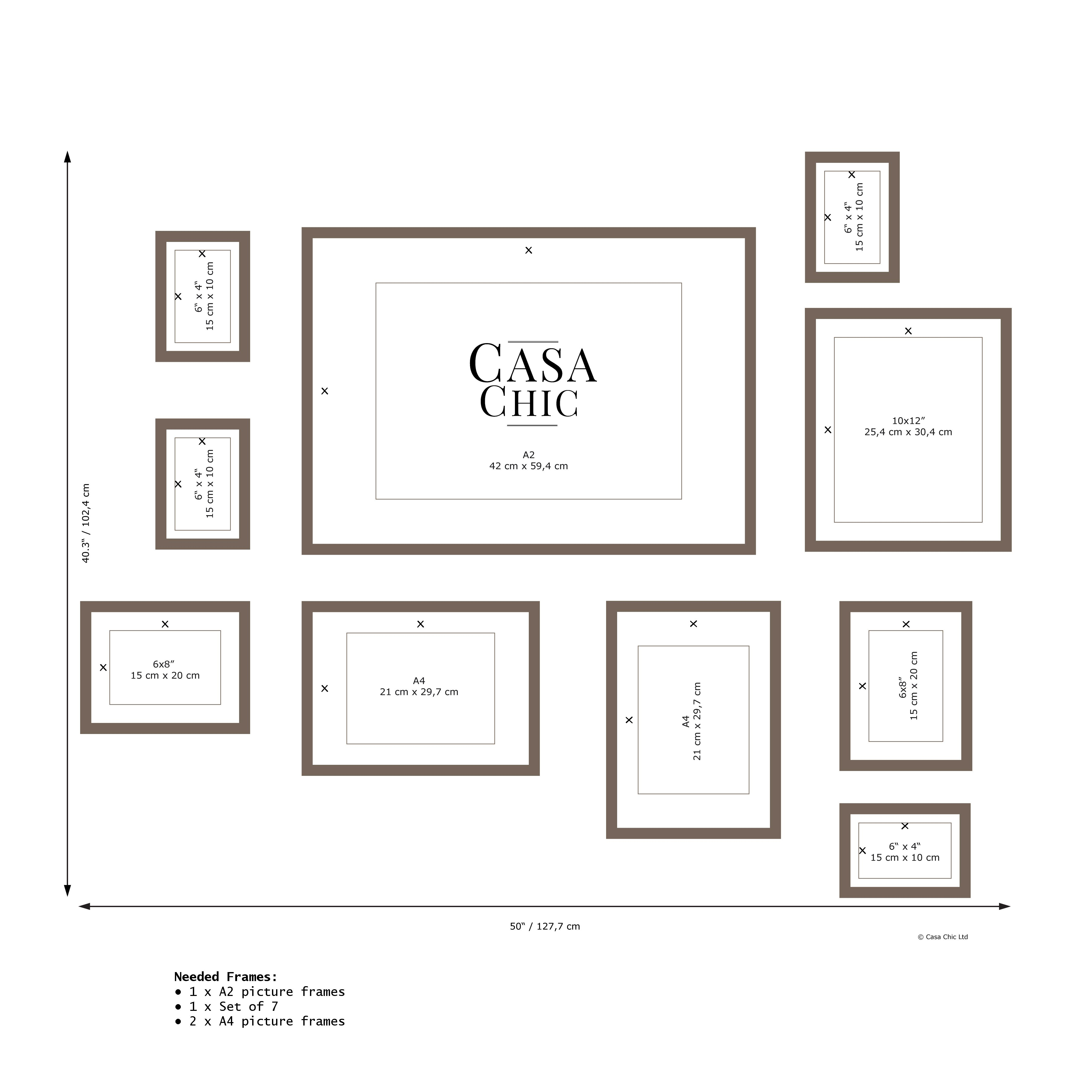 Casa Chic Gallery Wall Template Gallery Wall Layout Gallery Wall