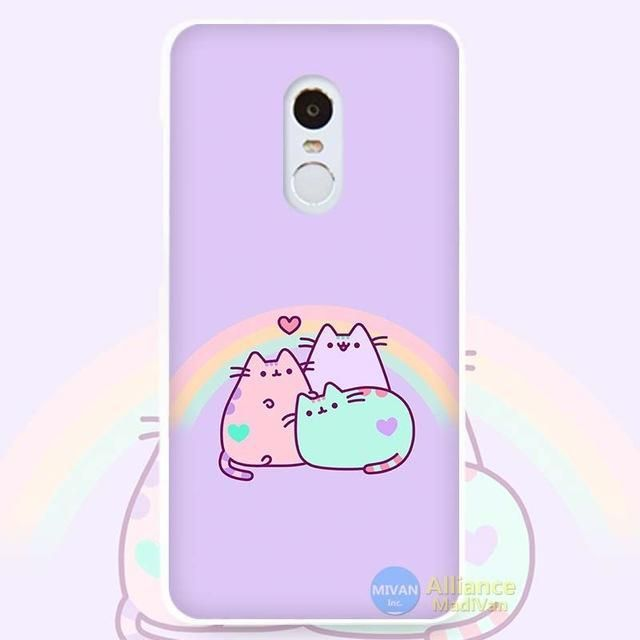 3b690fafe21bf Pusheen The Cat Hard White Cell Phone Case Cover for Xiaomi Mi Redmi Note 4  Pro 4A 4C 4X 5X 5 6