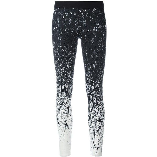 Reebok Brushes Print Leggings ( 67) ❤ liked on Polyvore featuring pants cd77a4fbf